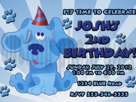 Blues Clues Invitation Personalized Birthday Digital File