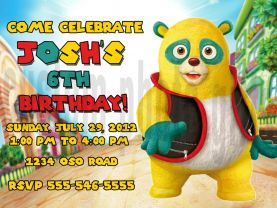 Special Agent Oso Invitation Personalized Birthday Digital File