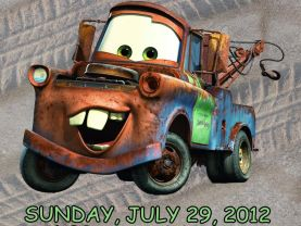 Cars Tow Mater Invitation Personalized Birthday Digital File
