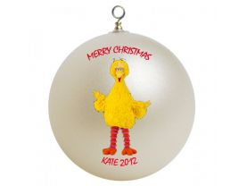 Sesame Street Big Bird Personalized Custom Christmas Ornament