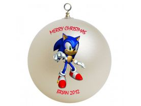 Sonic Hedgehog Personalized Custom Christmas Ornament #1