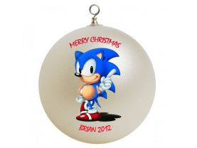 Sonic Hedgehog Personalized Custom Christmas Ornament #2