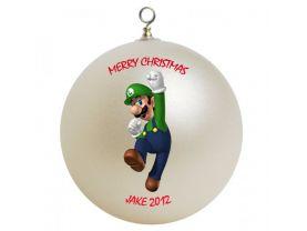 Super Mario Luigi Personalized Custom Christmas Ornament