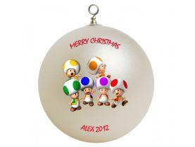 Super Mario Toad Personalized Custom Christmas Ornament