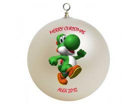 Super Mario Yoshi Personalized Custom Christmas Ornament