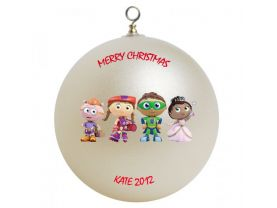Super Why Personalized Custom Christmas Ornament #1