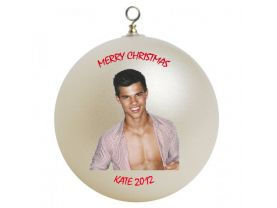 Taylor Lautner Personalized Custom Christmas Ornament