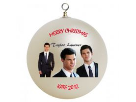 Taylor Lautner Personalized Custom Christmas Ornament #2