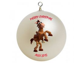 Toy Story Bullseye Personalized Custom Christmas Ornament