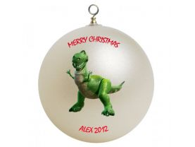 Toy Story Rex Personalized Custom Christmas Ornament