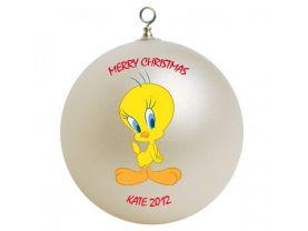 Tweety Personalized Custom Christmas Ornament #2