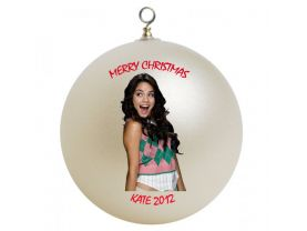 Vanessa Hudgens Personalized Custom Christmas Ornament