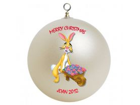 Winnie the Pooh Rabbit Personalized Custom Christmas Ornament