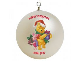 Winnie the Pooh Pooh and Piglet Personalized Custom Christmas Ornament