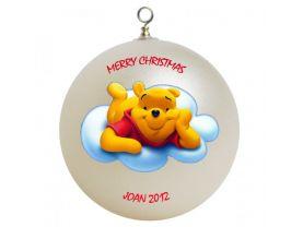Winnie the Pooh Pooh Personalized Custom Christmas Ornament #1