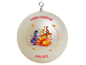 Winnie the Pooh Pooh, Piglet, and Eeyore Personalized Custom Christmas Ornament