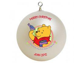 Winnie the Pooh Pooh Personalized Custom Christmas Ornament #2