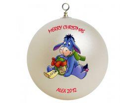 Winnie the Pooh Eeyore Personalized Custom Christmas Ornament #2