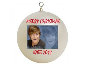 Zac Efron Personalized Custom Christmas Ornament
