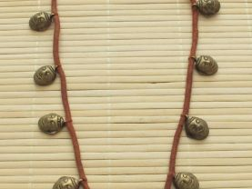 Vintage  brass Naga head tribal necklace.