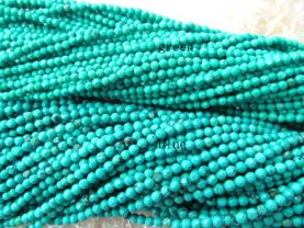 turquoise gemstone  round ball  faceted green blue  jewelry  beads 4mm--5strands
