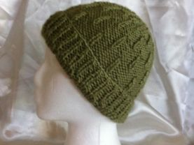 Hand made Green men hat / unisex hat