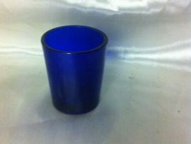 Vintage Cobalt Blue Glass Jar Collector Noxema Vicks Medicine Bottle