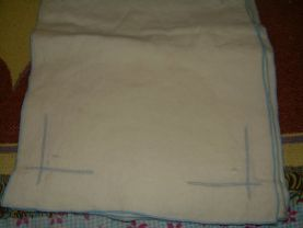 CLOTH NAPKINS BLUE TRIM used lot of 7