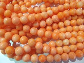 new color 8mm 5strands 16inch,round ball  oranger yellow mixed jade gemstone  jewelry beads