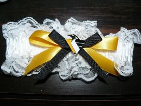 Handmade Inspired Pittsburgh Penguins Wedding Garter