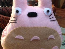 Hand stitched nice   MY NEIGHBOR  Totoro toy a cute gift  in pink