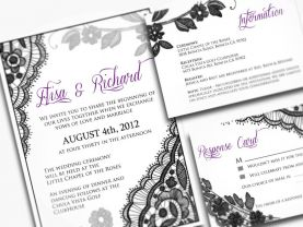 Little Lacey Wedding Invitations