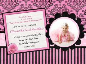 Sweet Paris Birthday Invitations