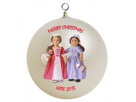 American Girl Best Friends Elizabeth and Felicity Personalized Custom Christmas Ornament