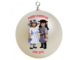 American Girl Best Friends Samantha and Nellie Personalized Custom Christmas Ornament