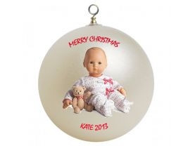 American Girl Bitty Baby Personalized Custom Christmas Ornament