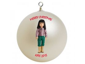 American Girl Ivy Personalized Custom Christmas Ornament