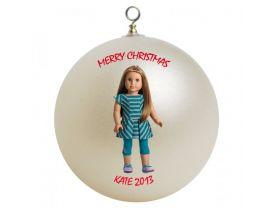 American Girl McKenna Personalized Custom Christmas Ornament