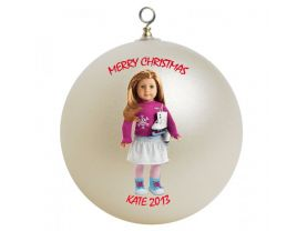 American Girl Mia Personalized Custom Christmas Ornament
