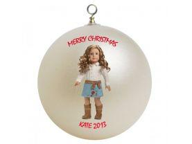 American Girl Nicki Personalized Custom Christmas Ornament