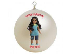 American Girl Sonali Personalized Custom Christmas Ornament