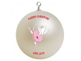 Angelina Ballerina Personalized Custom Christmas Ornament
