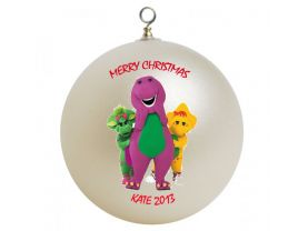 Barney and Friends Personalized Custom Christmas Ornament