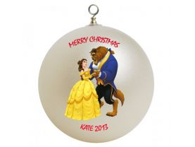 Beauty and the Beast Personalized Custom Christmas Ornament