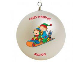 Caillou Personalized Custom Christmas Ornament #3