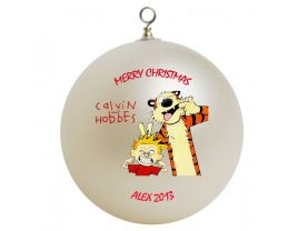 Calvin & Hobbes Personalized Custom Christmas Ornament #2