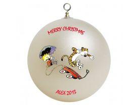 Calvin & Hobbes Personalized Custom Christmas Ornament