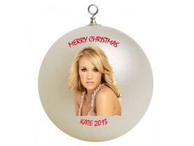 Carrie Underwood Personalized Custom Christmas Ornament