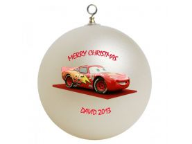 Cars Lightning McQueen Personalized Custom Christmas Ornament