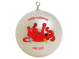 Clifford the Big Red Dog Personalized Custom Christmas Ornament